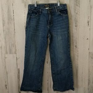 OLD NAVY 10 HUSKY Distressed Bootcut Jeans denim
